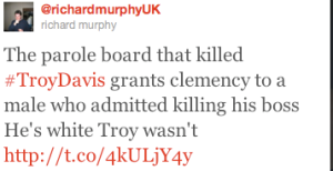 TROY DAVIS Twitter post