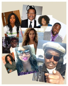 L-R: Kelly Rowland, Billy Dee Williams, Sherri Shepherd, Wesley Snipes, Beyonce, Malik Yoba, Oprah, Qui, Fab 5 Freddy