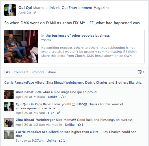 IYANLA & DMX  FB Comments