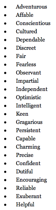 Qui Entertainment Good Personality Traits