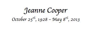 Goodbye Jeanne Cooper