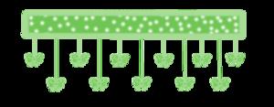 green bow divider