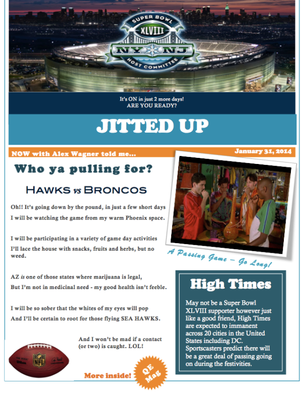QE Super Bowl 2014 Newsletter -1