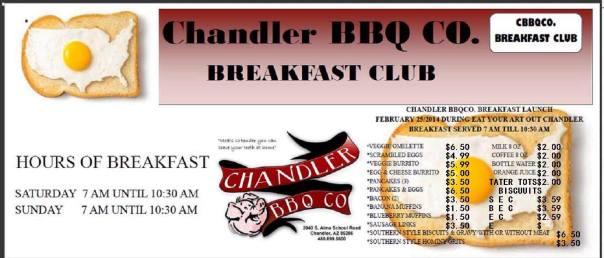 ChandlerBBQ Menu 2014