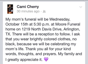 Tina Reese's Funeral Date & Time