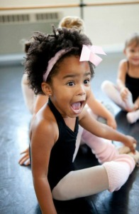 excited little black girl