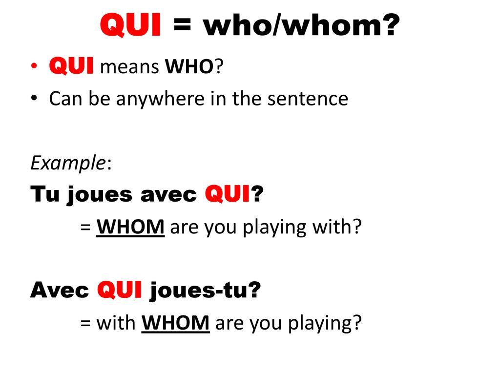 Qui-Who_French-grammar